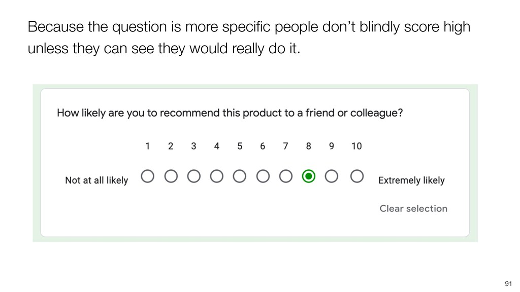 Because the question is more specific people don...