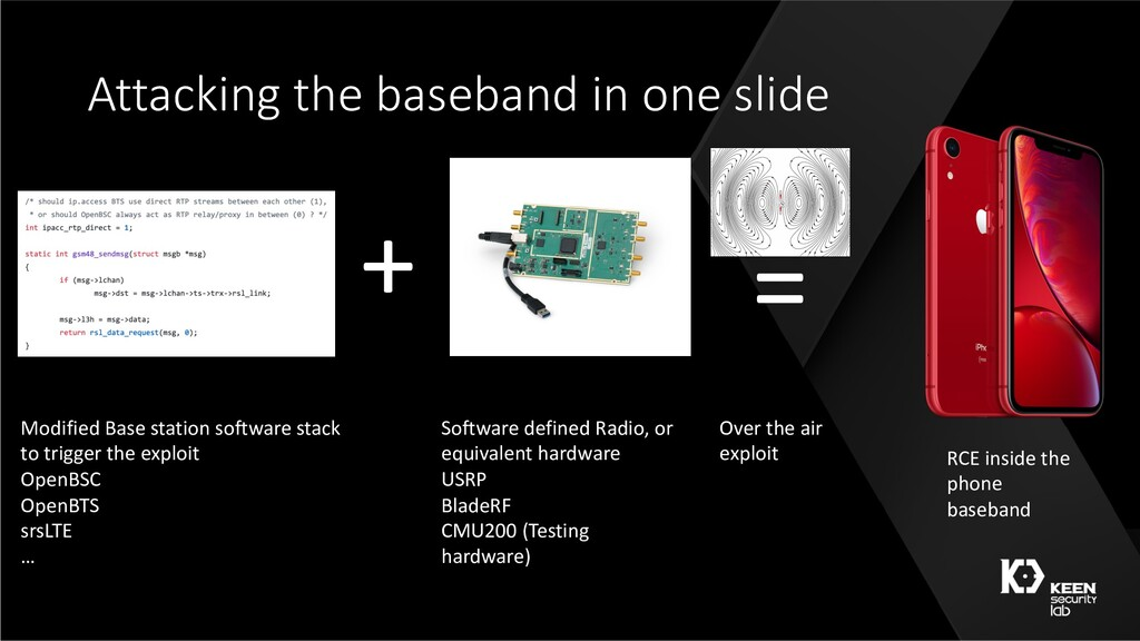 Attacking the baseband in one slide + = Modifie...