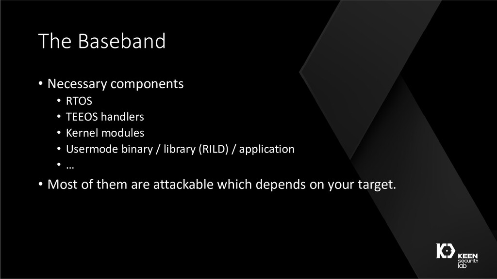 The Baseband • Necessary components • RTOS • TE...