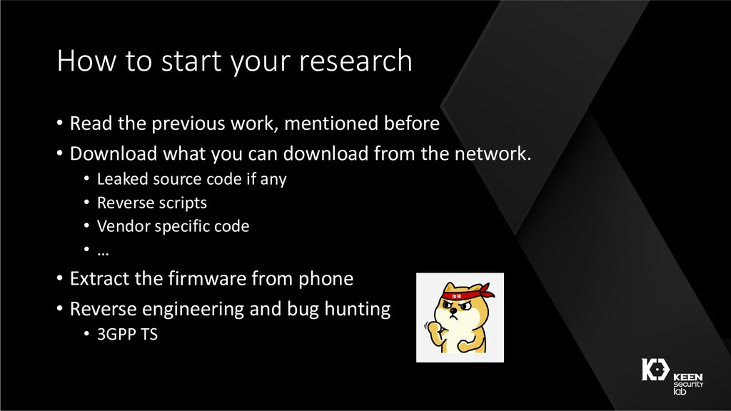 How to start your research • Read the previous ...