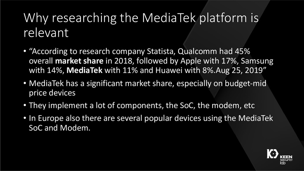 Why researching the MediaTek platform is releva...