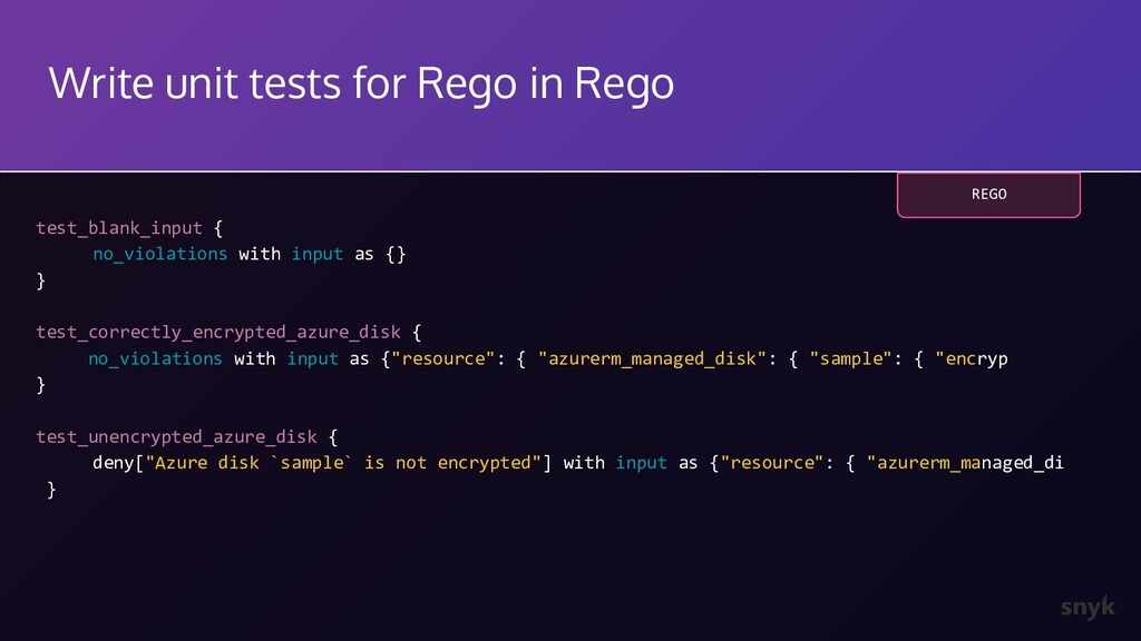 Write unit tests for Rego in Rego test_blank_in...