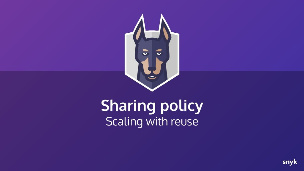 Sharing policy Scaling with reuse