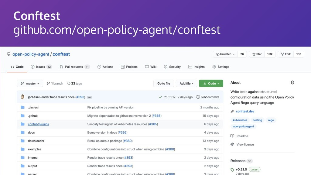 Conftest github.com/open-policy-agent/conftest