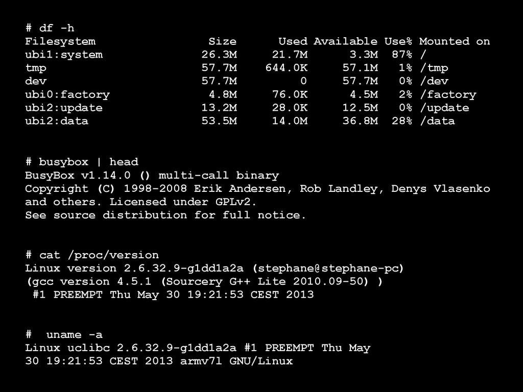 # busybox | head BusyBox v1.14.0 () multi-call ...