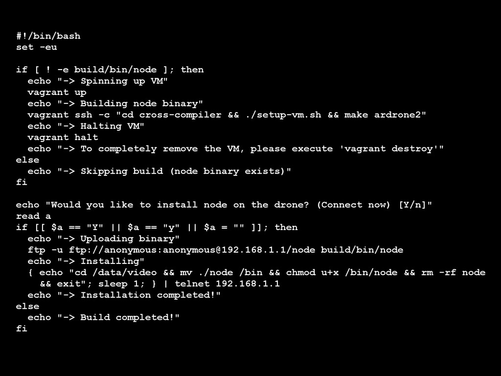 #!/bin/bash set -eu ! if [ ! -e build/bin/node ...