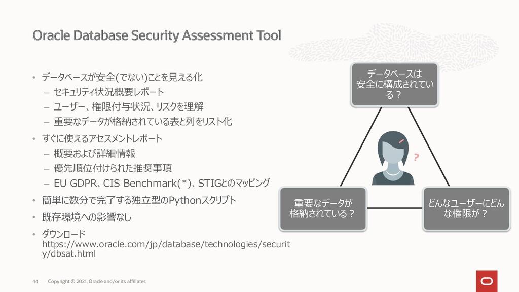 Oracle Database Security Assessment Tool Copyri...