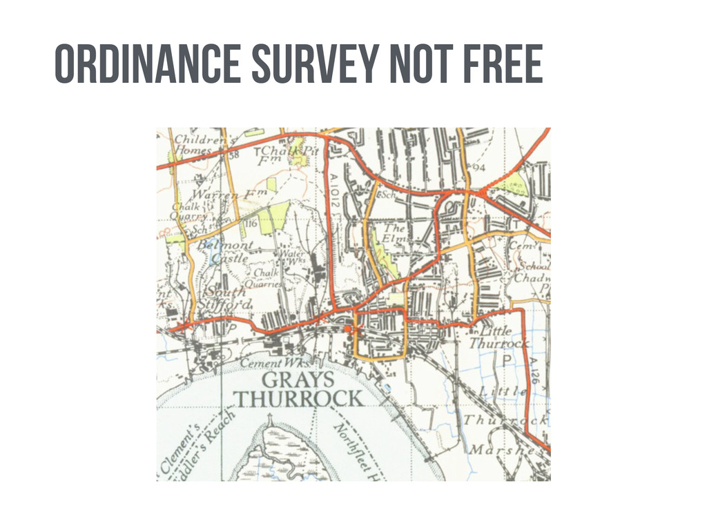 Ordinance Survey Not free