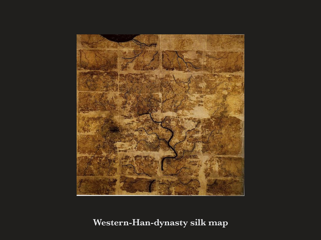Western-Han-dynasty silk map