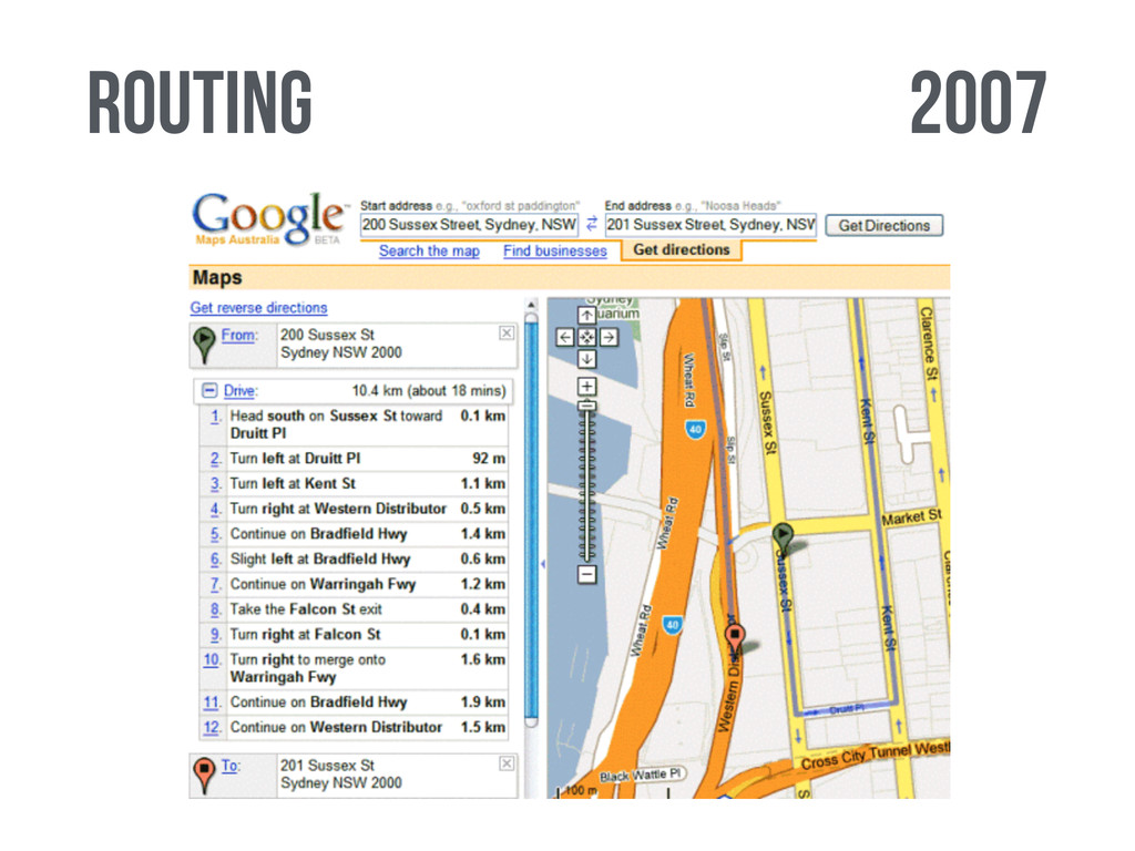 2007 routing