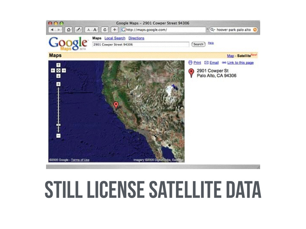 Still license Satellite data