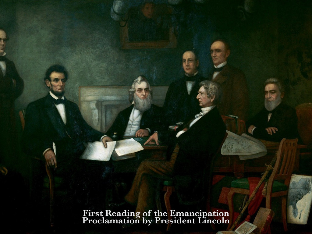 First Reading of the Emancipation Proclamation ...