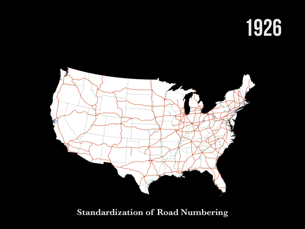 1926 Standardization of Road Numbering