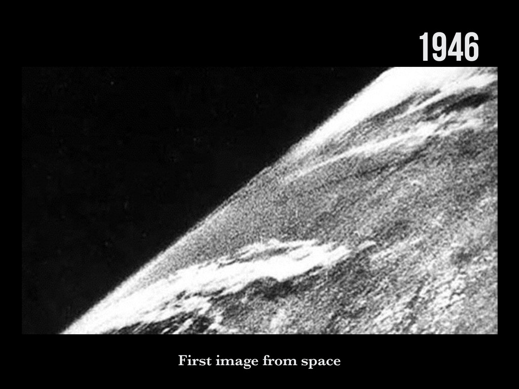 1946 First image from space