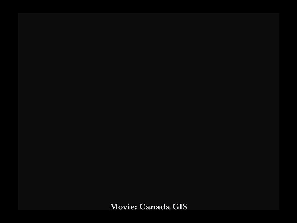 Movie: Canada GIS
