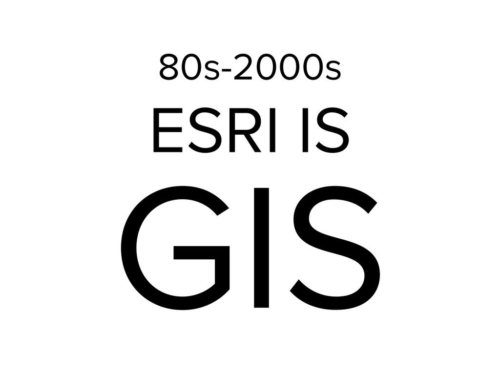GIS ESRI IS 80s-2000s