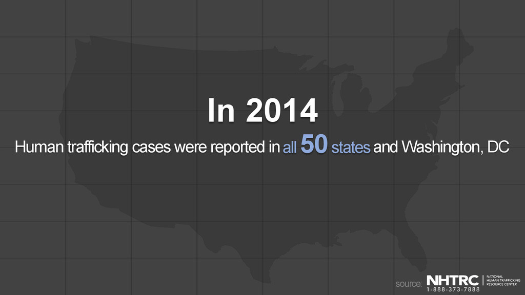 In 2014 Human trafficking cases were reported i...