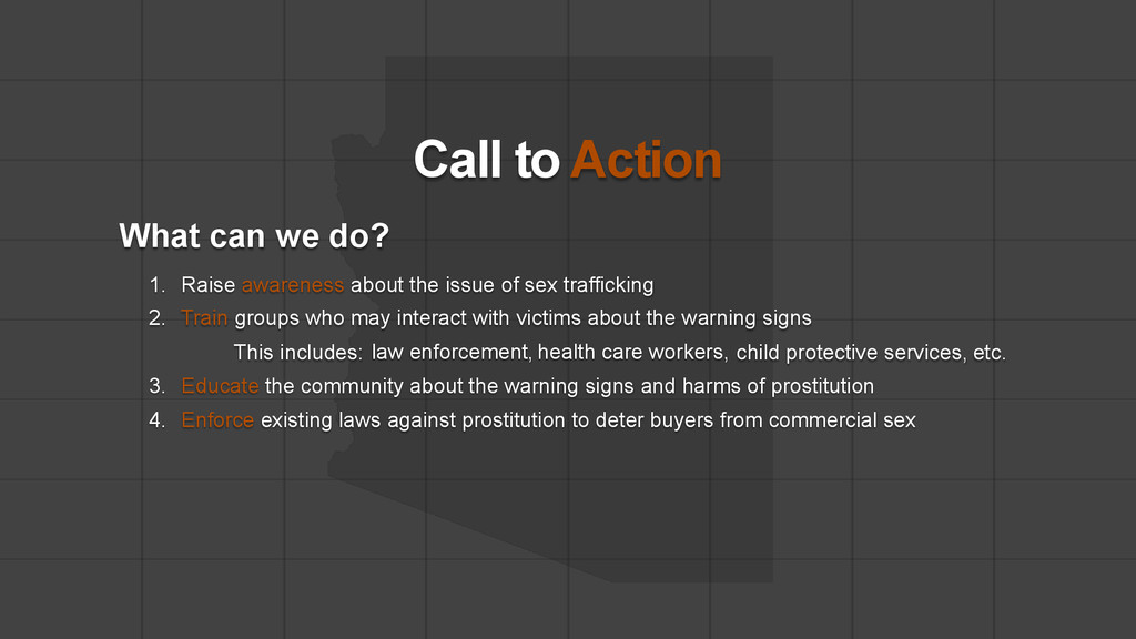 Call to Action What can we do? 1. Raise awarene...