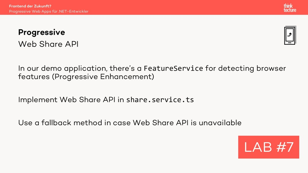 Web Share API In our demo application, there's ...