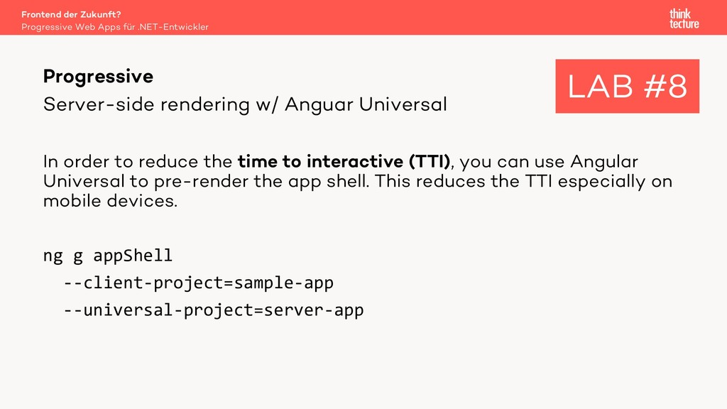 Server-side rendering w/ Anguar Universal In or...