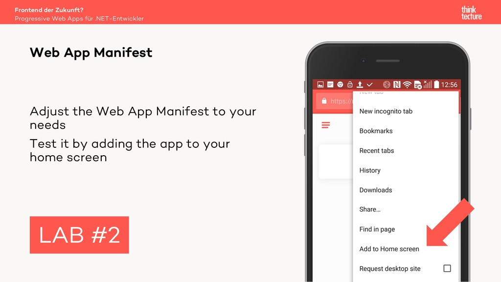 Adjust the Web App Manifest to your needs Test ...