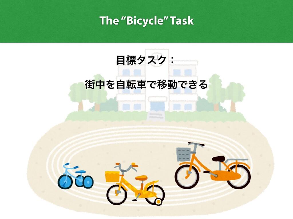 "The ""Bicycle"" Task ඪλεΫɿ   ֗தΛࣗసंͰҠಈͰ͖Δ"
