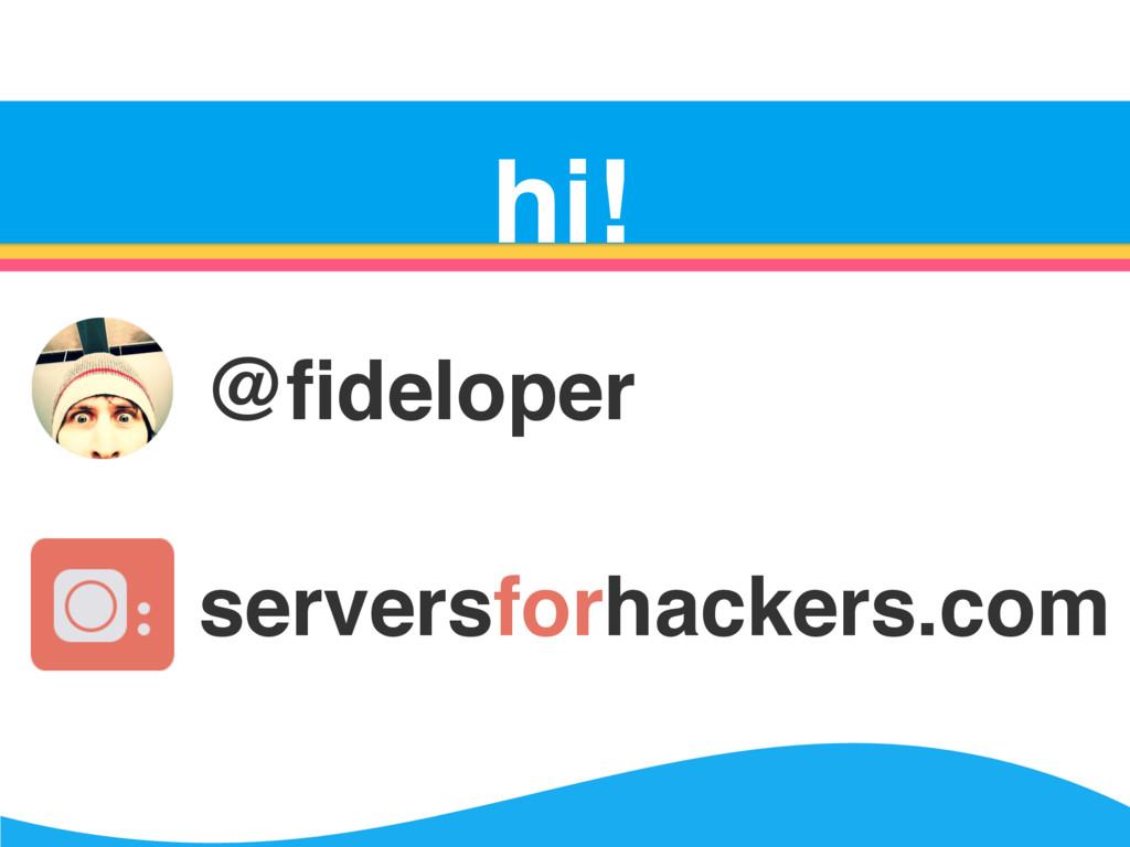 Server Survival hi! @fideloper serversforhackers...