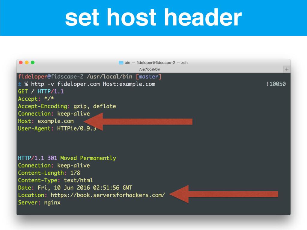 set host header