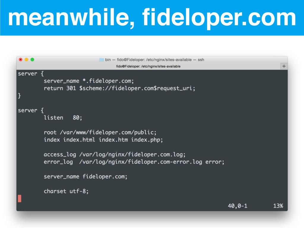 meanwhile, fideloper.com