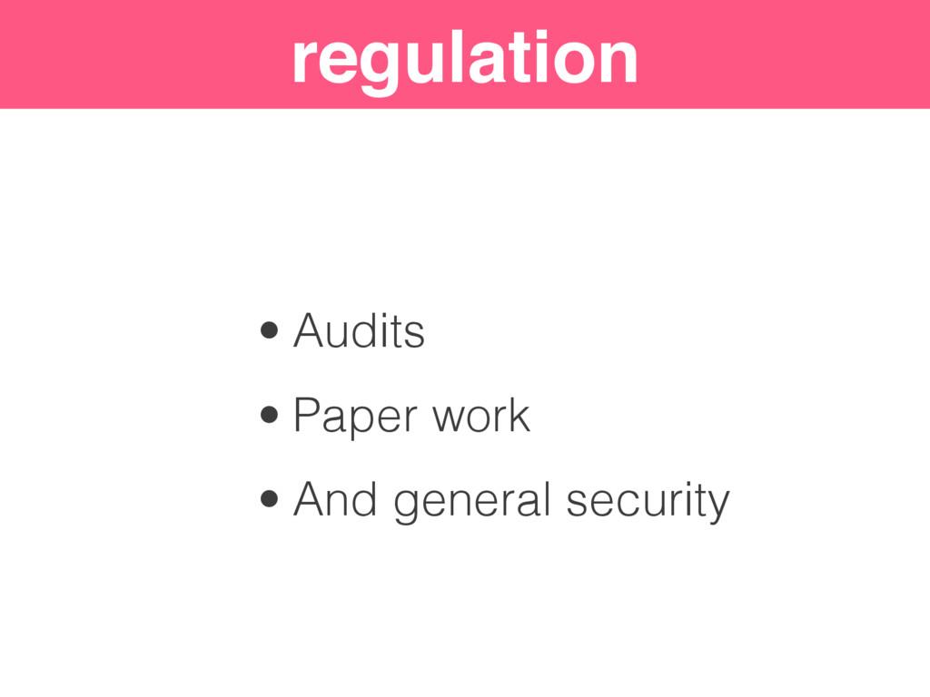 "Security ""Levels"" regulation • Audits • Paper w..."