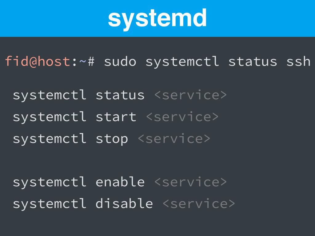 fid@host:~# sudo systemctl status ssh systemctl...
