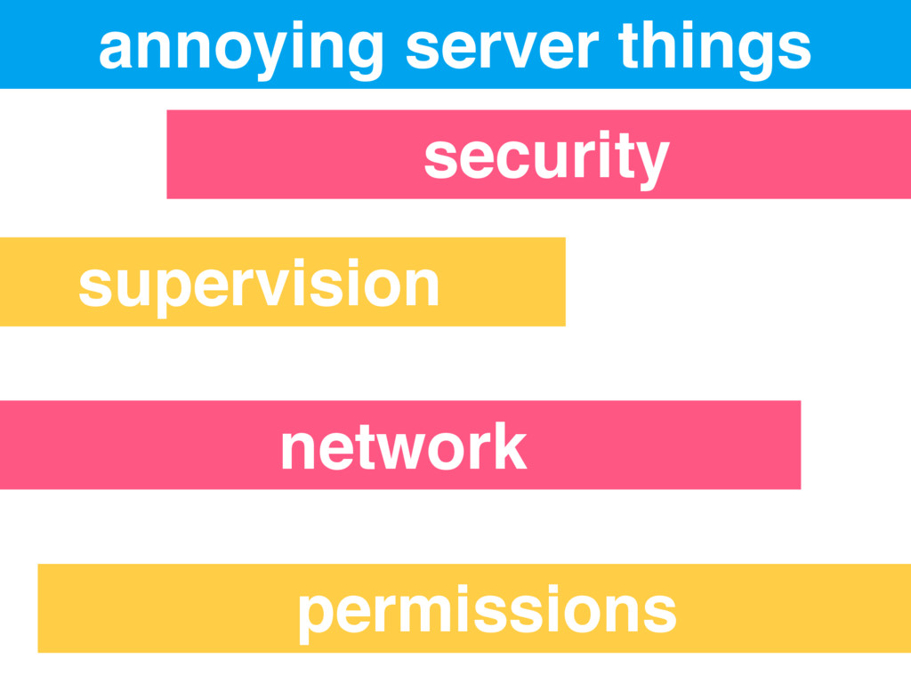 annoying server things security supervision net...