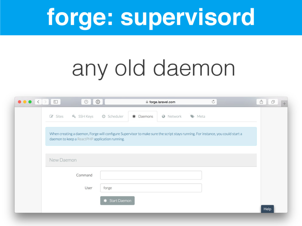 forge: supervisord any old daemon