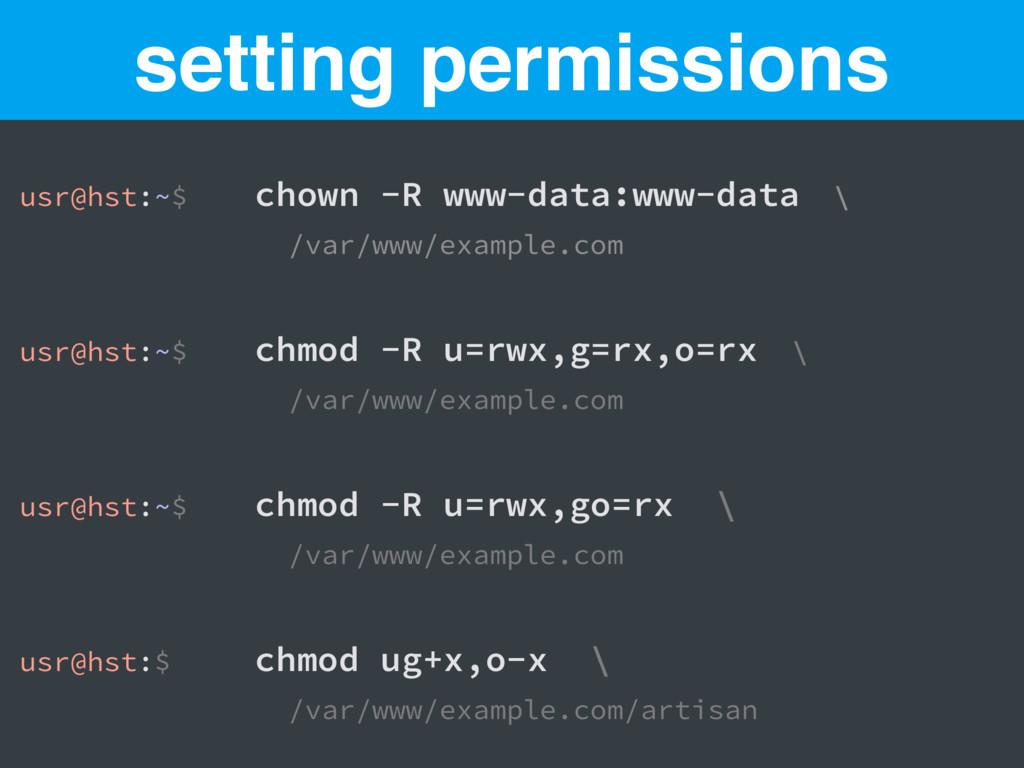 usr@hst:~$ chown -R www-data:www-data \ /var/ww...
