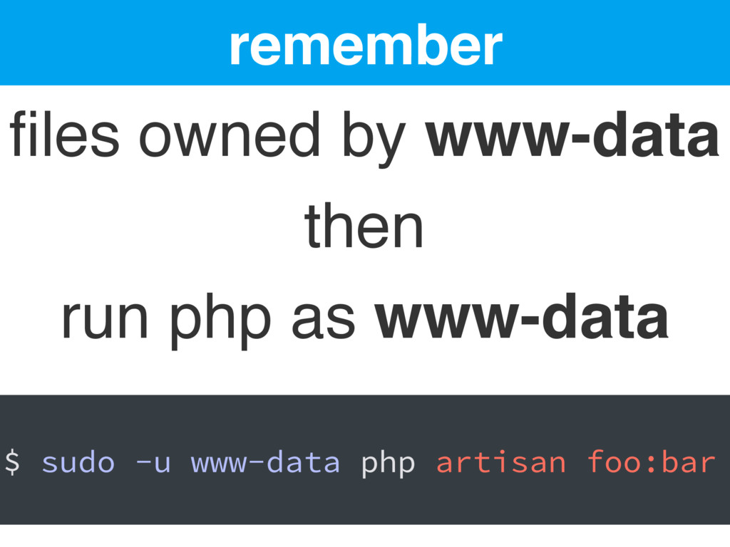 remember files owned by www-data then run php as...