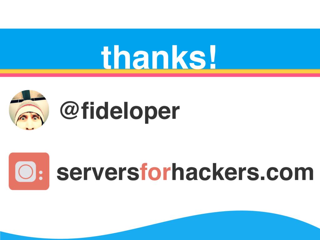 Server Survival thanks! @fideloper serversforhac...