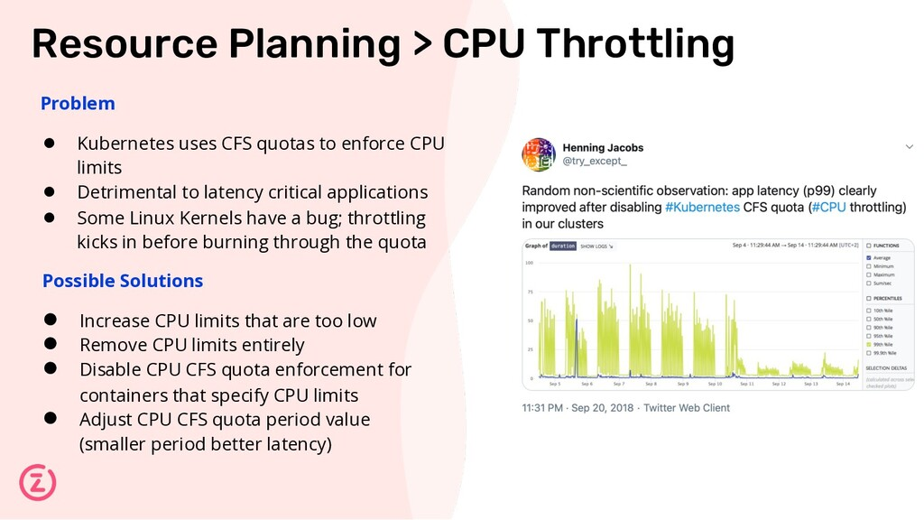 Resource Planning > CPU Throttling Problem ● Ku...