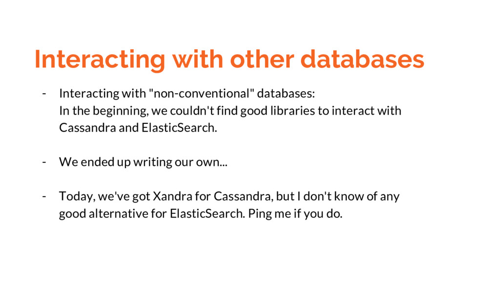 Interacting with other databases - Interacting ...