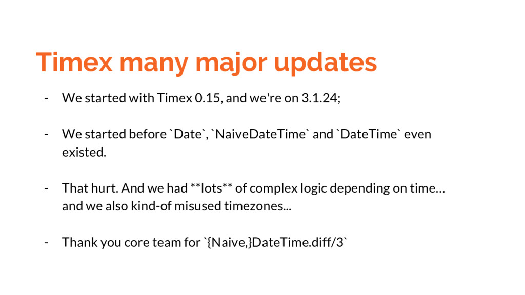 Timex many major updates - We started with Time...