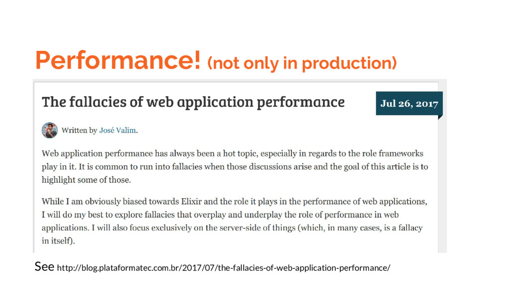 Performance! (not only in production) See http:...