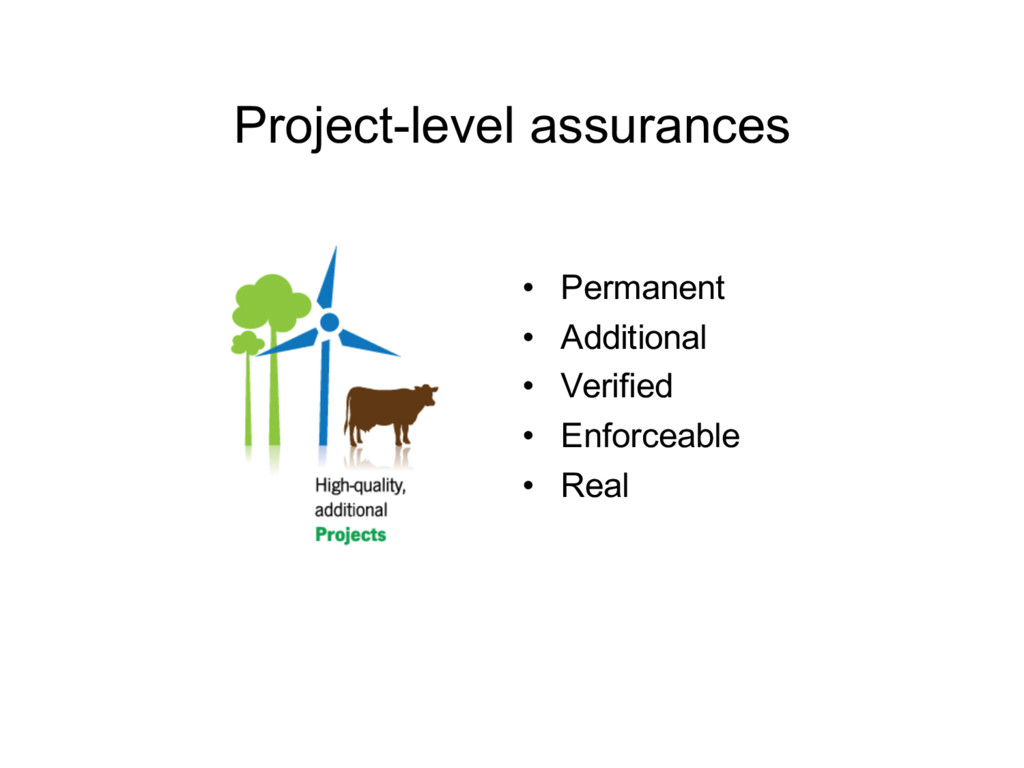 Project-level assurances • Permanent • Addition...