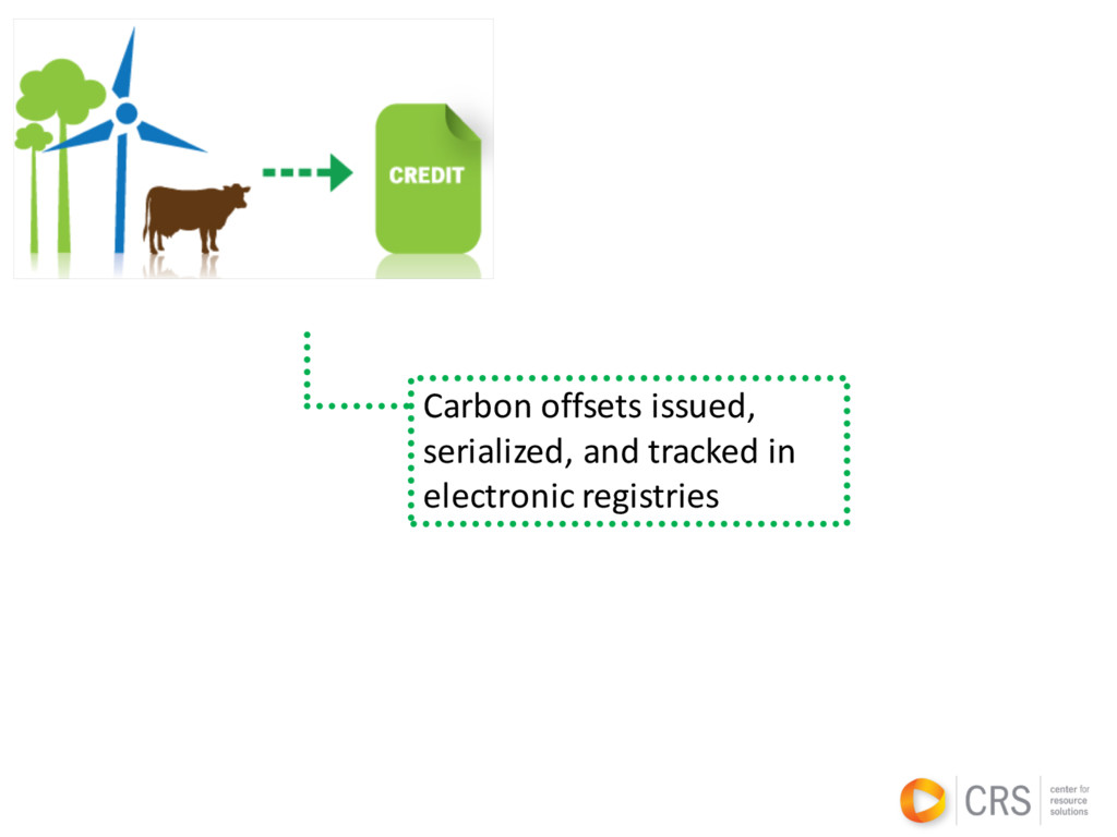 Carbon offsets issued, serialized, and tracked ...