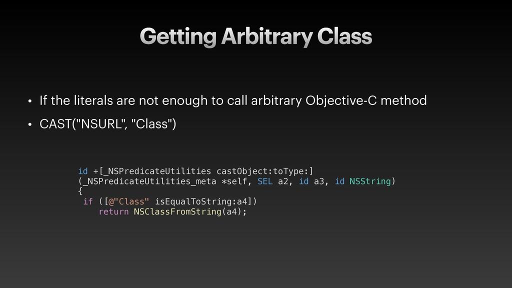 Getting Arbitrary Class id +[_NSPredicateUtilit...