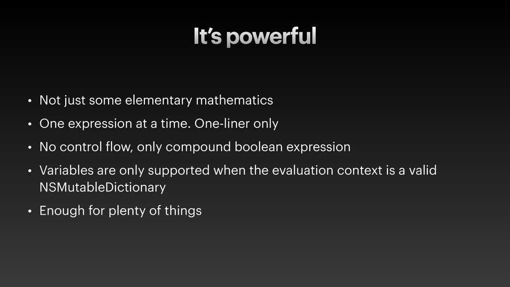 It's powerful • Not just some elementary mathem...