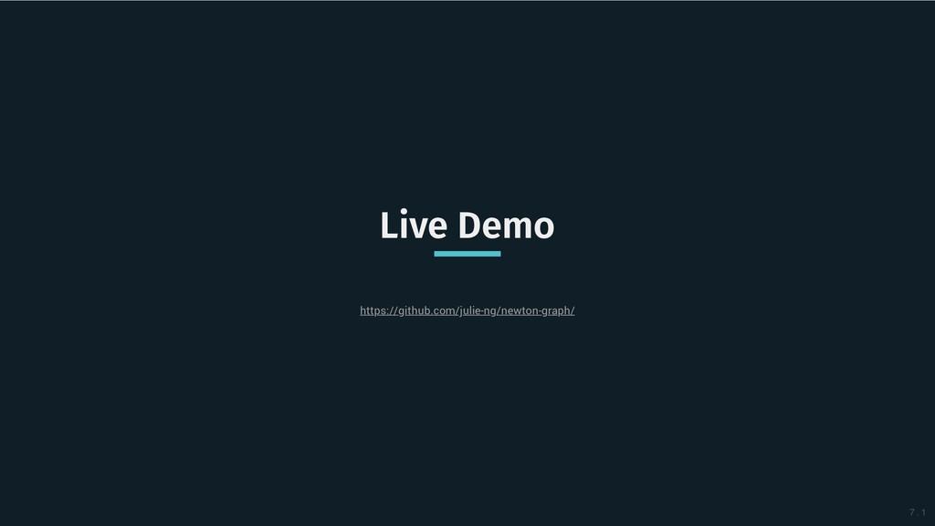 Live Demo Live Demo https://github.com/julie-ng...