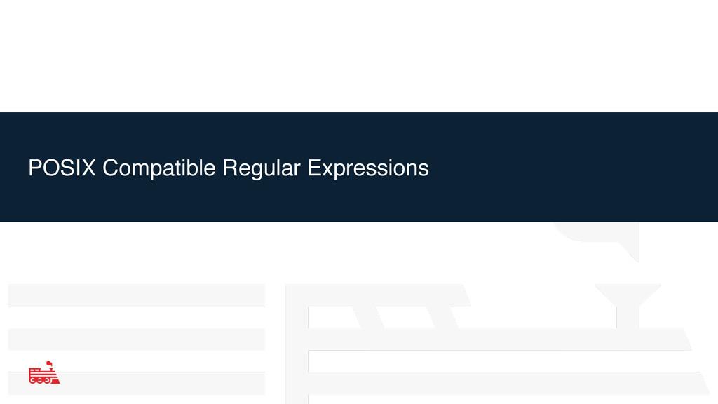 POSIX Compatible Regular Expressions