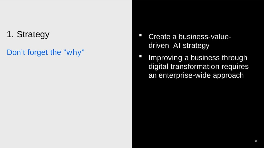 """1. Strategy Don't forget the """"why"""" 11  Create ..."""