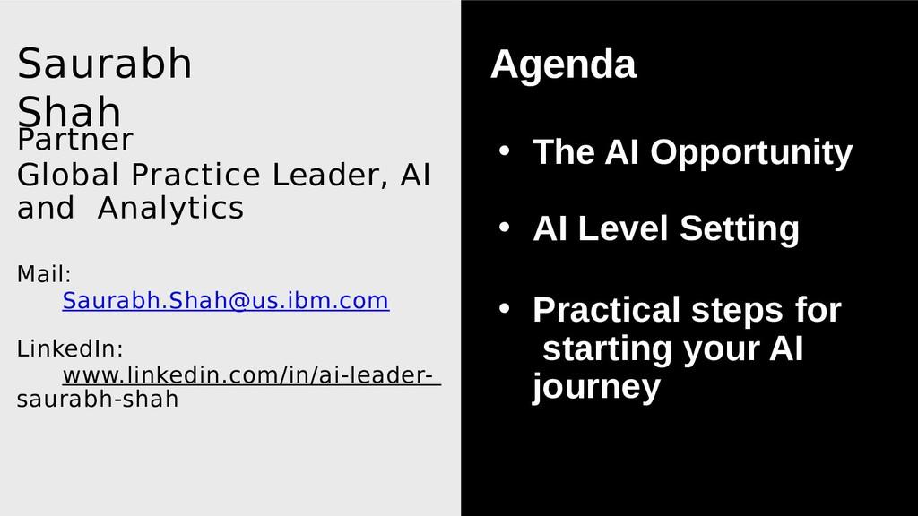 Saurabh Shah Partner Global Practice Leader, AI...
