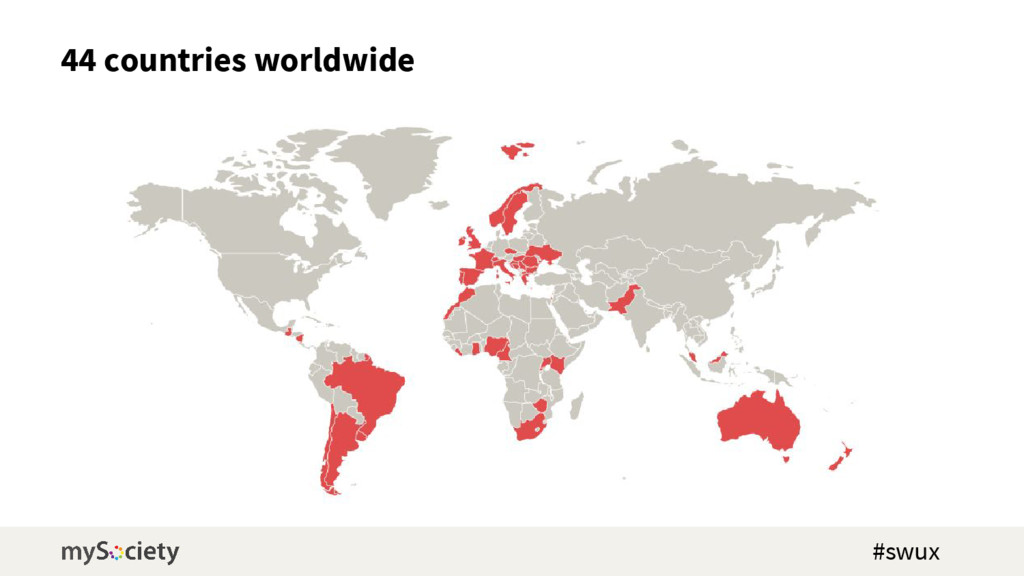 44 countries worldwide #swux